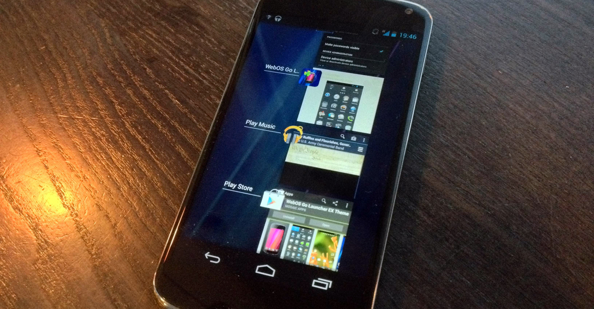 webOS-like multitasking in Android 4.2
