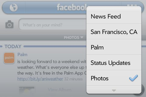Facebook Beta with landscape support